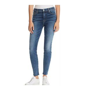 7 For All Mankind Ankle Skinny Jeans  in B(air).